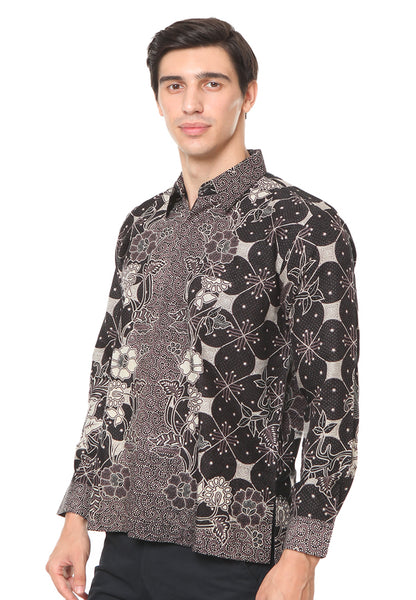LONG SLEEVE BLACK DOBY BATIK SHIRT