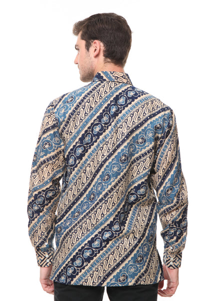 BLUE LONG SLEEVE PARANG BATIK