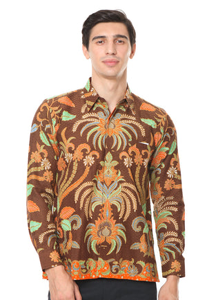 LONG SLEEVE BROWN DOBY BATIK SHIRT