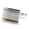 Two Tone Border Silver Cufflinks