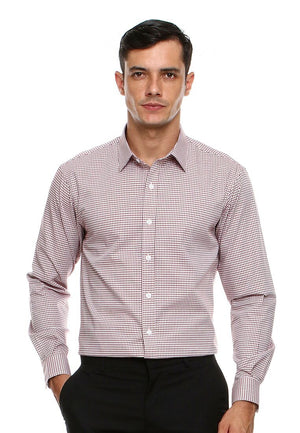 DOUBLE BARREL GREY RED CHECKERED SHIRT