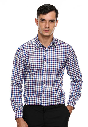 DOUBLE BARREL PURPLE BLUE CHECKERED SHIRT8