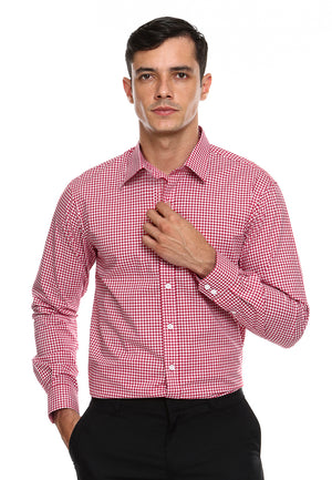 DOUBLE BARREL RED WHITE CHECKERED SHIRT