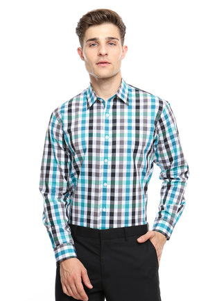 DOUBLE BARREL BLUE GREEN CHECKERED SHIRT