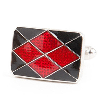 ARGYLE BLACK AND RED