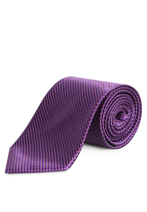 PURPLE WITH RED AND WHITE LINE REGULAR TIE