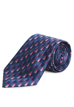 PURPLE GEOMETRIC REGULAR TIE