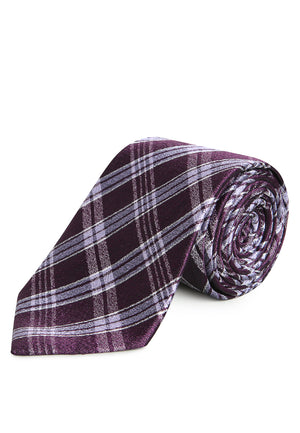 MAROON STRIPES REGULAR TIE