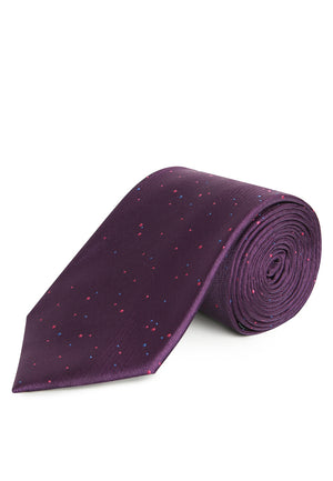 PURPLE WITH POLKADOT REGULAR TIE