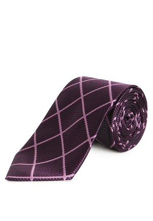 PURPLE STRIPES REGULAR TIE