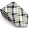 CHECKERED REGULAR TIE LIGHT GREEN