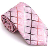 CHECKERED REGULAR TIE PINK