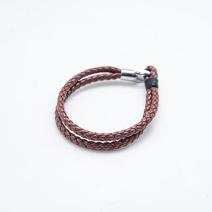 DOUBLE LOOP BROWN BRACELET