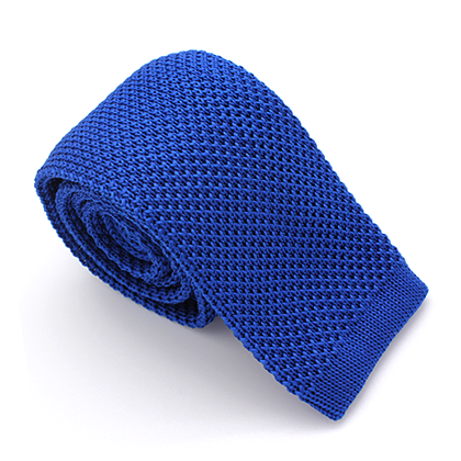 KNIT SKINNY TIE BLUE ROYAL