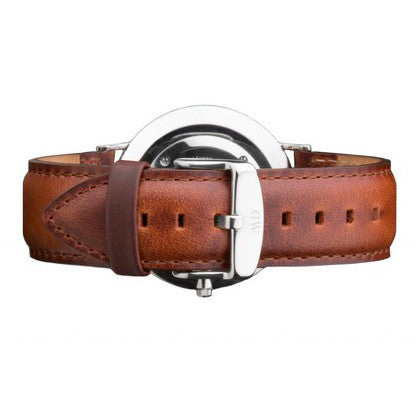 CLASSIC ST. ANDREWS SILVER LEATHER STRAP