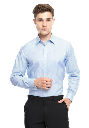 FRENCH CUFF DARK BLUE SHIRT