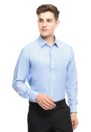 FRENCH CUFF LIGHT BLUE SHIRT