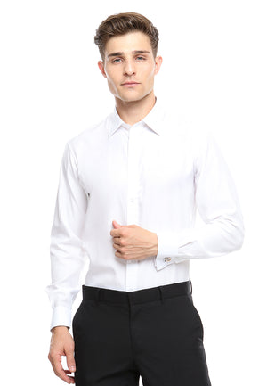 FRENCH CUFF WHITE SHIRT