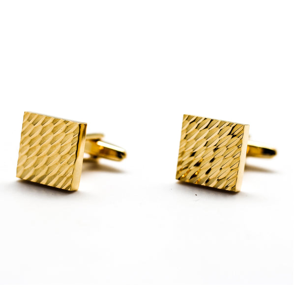 Fur Textured Gold Cufflinks
