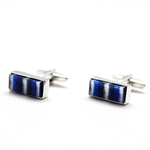 BLUE CAT EYES CUFFLINKS