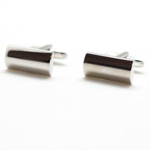 Silver Rectangle Rounded Top Cufflinks