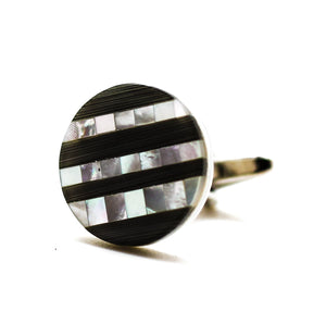 Mother of Pearl - Onyx Stripe Cufflinks