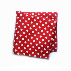 POLKA RED POCKET SQUARE