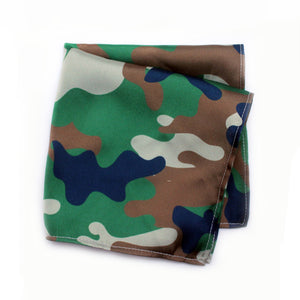 CAMO GREEN POCKET SQUARE