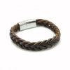 BROWN WOVEN LEATHER BRACELET