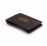 WOODEN MONEY CLIP DARK BROWN