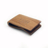 WOODEN MONEY CLIP LIGHT BROWN