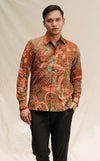 BATIK GOLDEN THREAD BIRD BROWN