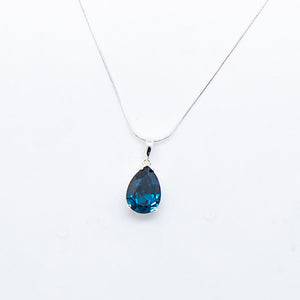 SWAROVSKI PEAR CUT MONTANA NECKLACE