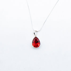 SWAROVSKI PEAR CUT RUBY NECKLACE