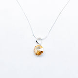 SWAROVSKI BIG ROUND GOLDEN SHADOW NECKLACE