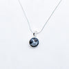 SWAROVSKI ROUND SILVER NIGHT NECKLACE