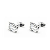 SWAROVSKI RECTANGLE CRYSTAL CUFFLINKS