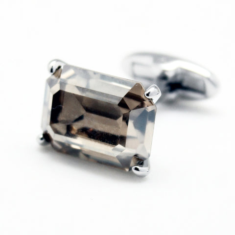 SWAROVSKI RECTANGLE CRYSTAL EFFECT CUFFLINKS
