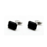 SWAROVSKI RECTANGLE JET CUFFLINKS