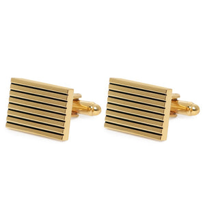 CLASSIC GOLD SQUARE CUFFLINKS