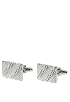 CLASSIC SQUARE STRIPES CUFFLINKS