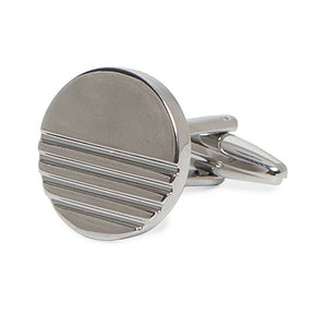 CLASSIC ROUND STRIPES CUFFLINKS