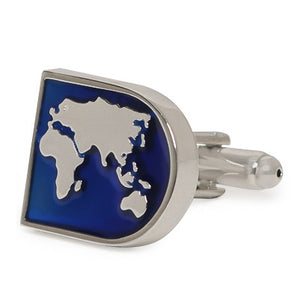 BLUE MAP CUFFLINKS