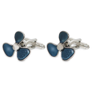 BLUE FAN CUFFLINKS