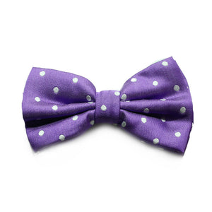 POLKADOT BRIGHT PURPLE BOWTIE