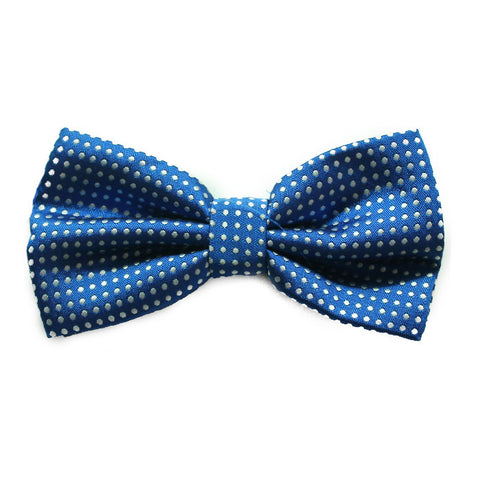 SMALL POLKADOT ROYAL BLUE BOWTIE