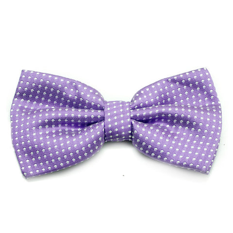 SMALL POLKADOT PURPLE BOWTIE