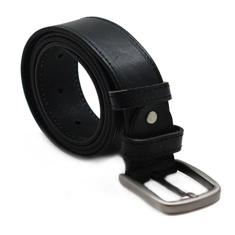 CLASSIC BLACK LEATER BELT