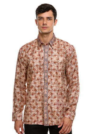 BATIK LONG SLEEVE KAWUNG RED