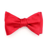 SILK BOWTIE RED SELF-TIE